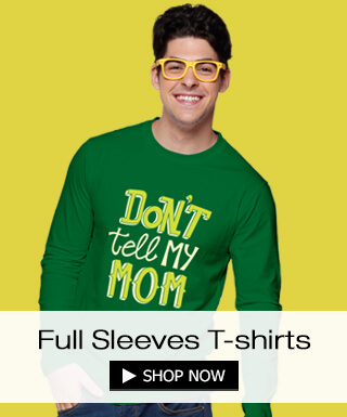 Full sleeve t-shirts for men at Bewakoof.com