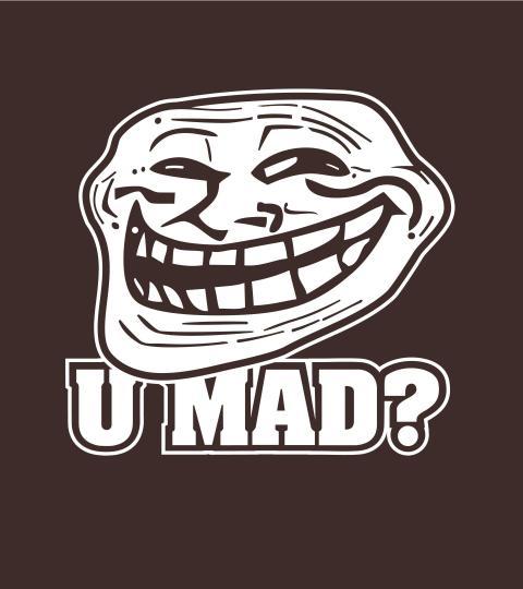 Guys Tee Troll Face - ...