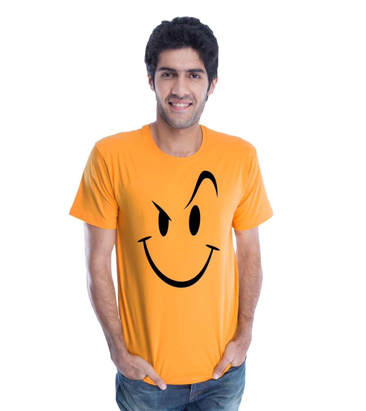 Naughty Smiley (Golden Yellow) Guys Tee