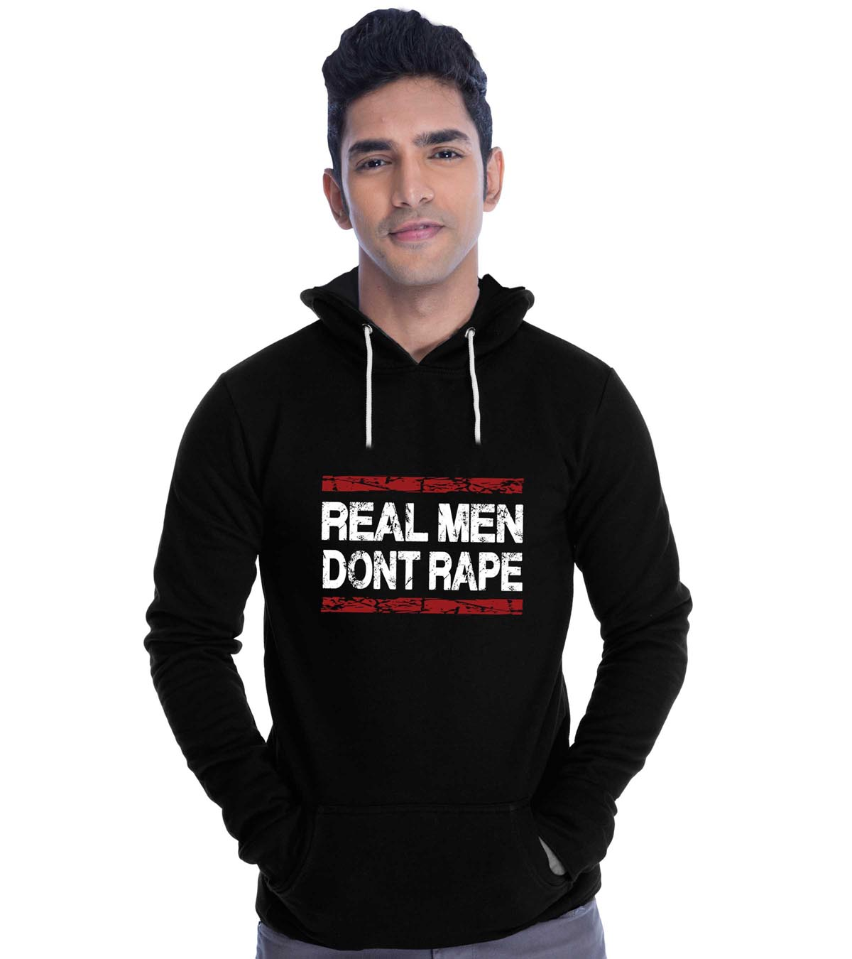Real Men Don't Rape Hoodies