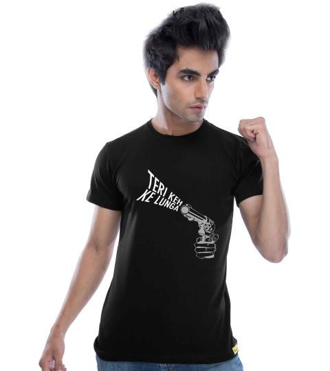 Teri Keh Ke Lunga (Black) Mens T-Shirts