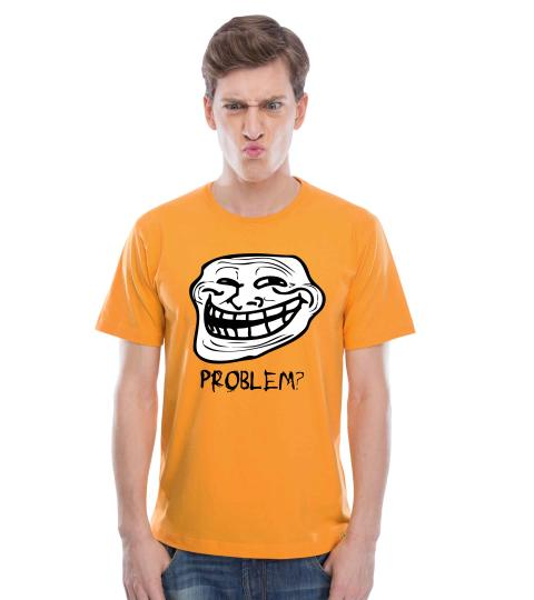 Troll Face (Golden Yellow) Mens T-Shirts