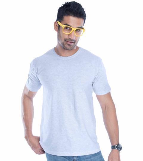 Ecru Plain Mens T-Shirts