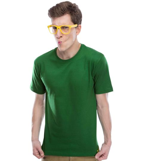 Poison Green Plain Mens T-Shirts