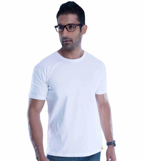 White Plain Mens T-Shirts