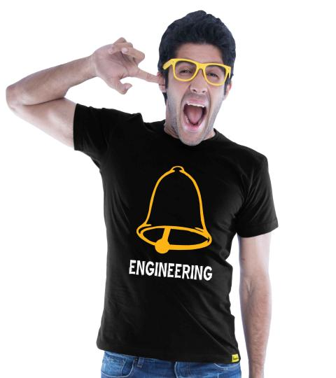 Ghanta Engineer (Black) Mens T-Shirts