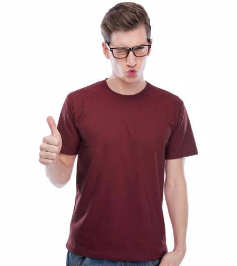 Tibetan Red Plain Mens T-Shirts