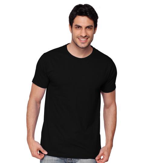 Jet Black Plain Mens T-Shirts
