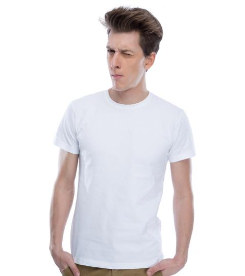 White Plain Mens T-Shirts