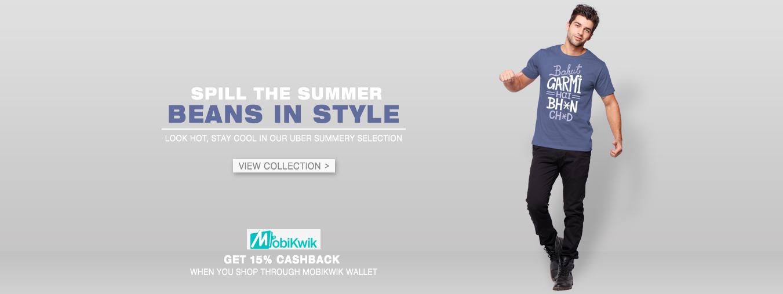 Summer Wear for Men at Bewakoof.com