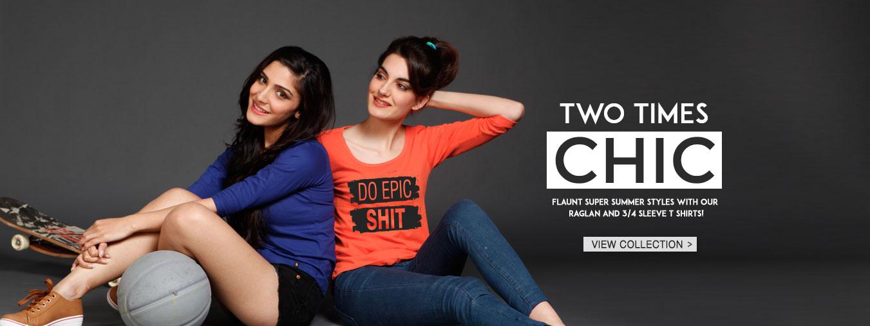 Women's T-Shirts at Bewakoof.com