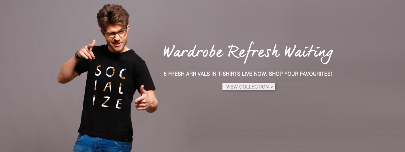 Printed T-Shirts for Men at Bewakoof.com