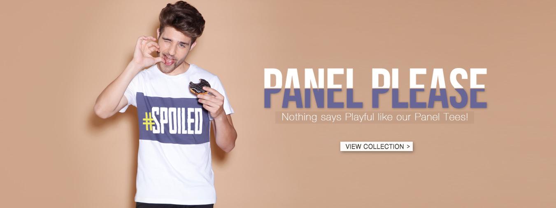 Panel T-Shirt for Men at Bewakoof.com